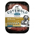 Cotswold Raw Sausage 80/20 Active Chicken 1kg Dog Food Frozen