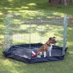 Henry Wag 6-Sided Wire Pet Play Pen with Base 76 x 63cm