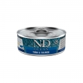 N&D Natural & Delicious Adult Cat Ocean Tuna & Salmon 80g Wet Tin Food