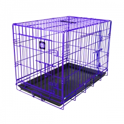 "Dog Life Extra Large Double Door Crate In Purple L42"" X W27"" X H31"" - L107 X W69 X H78 Cm"