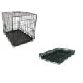 """Dog Life Dog Crate Medium Two Door Black 30"""" x 19"""" x 22"""" -  76 x 48 x 56cm"""